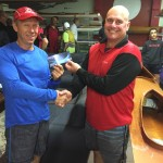 Tuesday 6th October, Club member Peter Burge presenting tonight winner Lloyd Noel with a movie voucher