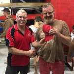 Tuesday 24th November club member David Gardiner presenting Robin with a Canning River Canoe Club cap.