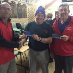 Tues 10th May 2016 Doug Hodson presenting tonights winner Steve Mitchinson with a movie voucher and also Dave Griffiths accepting Louis movie voucher