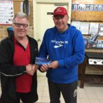 Tues 13th September 2016 : Club Member Steve Mitchinson presenting David with a movie voucher