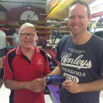 Tues 29th Nov 2016 : David Gardiner presenting tonights winner Simon O'Sullivan with a movie voucher.