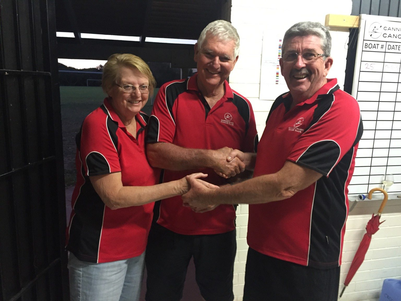 Tuesday 20th December 2016 : Club Committee member David Griffiths presenting tonights winners Jerry and Marg Alderson with movie vouchers