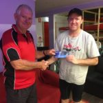 Tuesday 13th December 2016 : Club member Jerry Alderson presenting tonights winner Simon O'Sullivan with a movie voucher