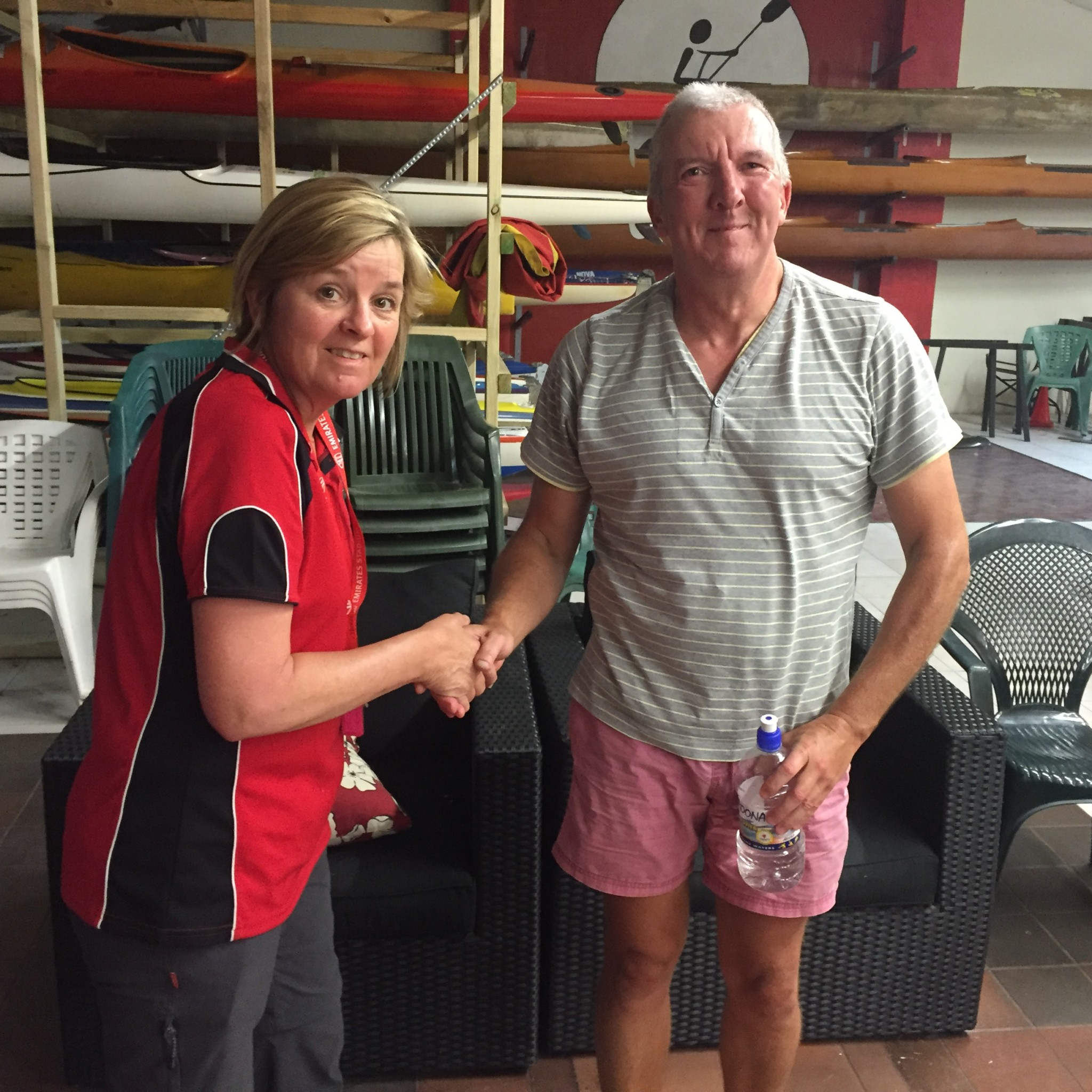 Tues 3rd January 2017 : Judith Thompson presenting tonights winner Malcolm Goodall with a movie voucher