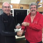 Tues 30th May 2017 : Dave Griffiths presenting David Urquhart with a movie voucher.