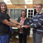 Tues 27th June 2017 : Tonights photo shows Club Member Tim Coward presenting his folks with movie vouchers