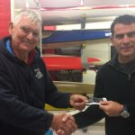 Tues 17th October 2017 : Tonights photo shows Committee Member Stuart Hyde presenting tonights winner Jerry Alderson with a movie voucher