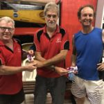 Tuesday 13th March 2018 : Tonights photo shows Committee member Steve Coward presenting David Gardiner and Chris Graham with movie vouchers.