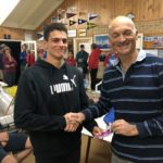 Tuesday 1st May 2018 : Tonight's photo shows Gianluca Cottino presenting his father Carlo with a movie voucher