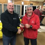 Tues 18th September 2018 : Tonight's photo shows club member Peter Burge  presenting Joe Wilson with a movie voucher