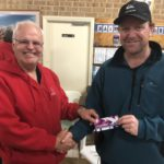 Tues 25th September 2018 : Tonight's photo shows club member Les Siemons presenting Simon O'Sullivan with a movie voucher.