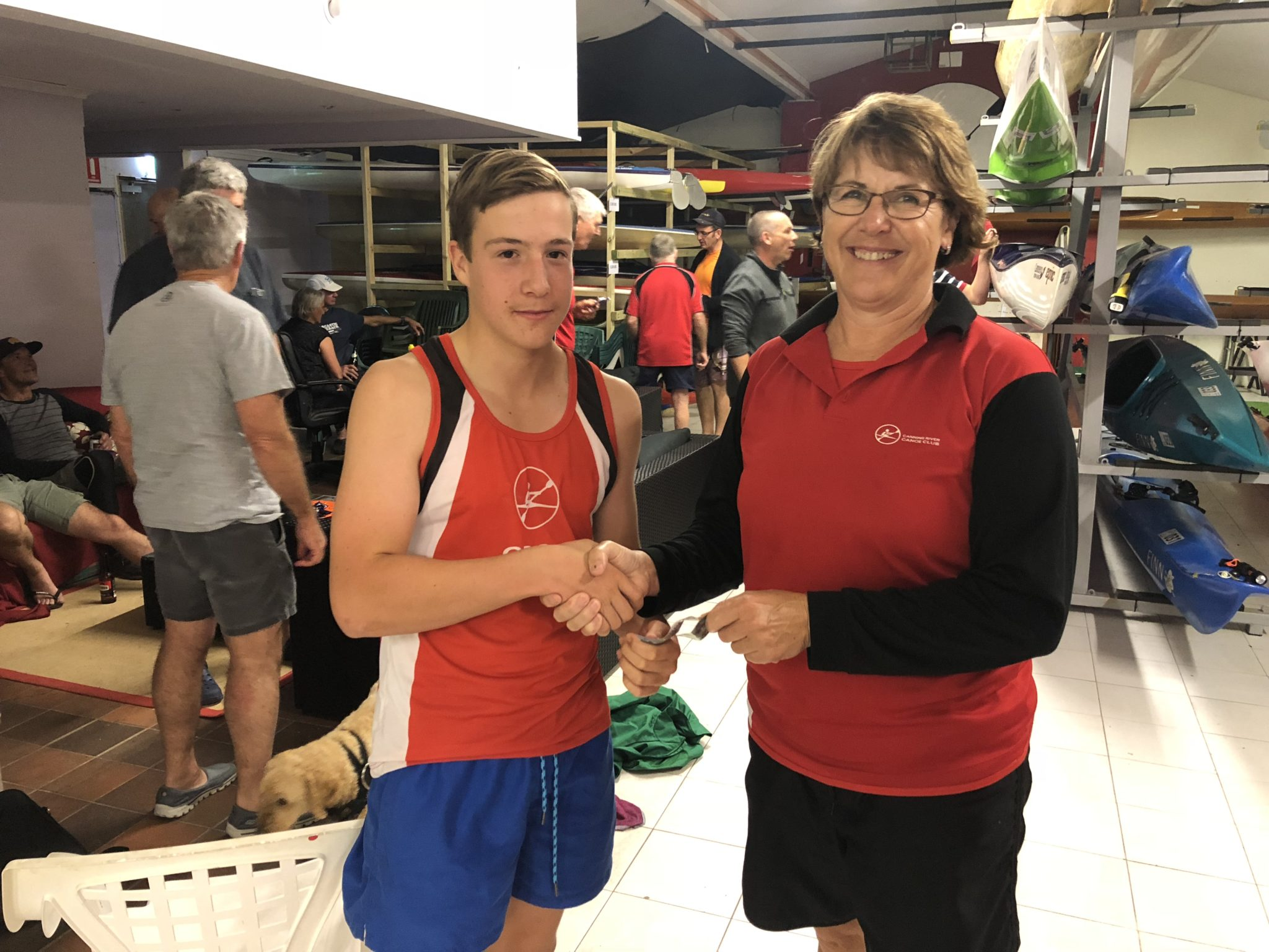 Tues 30th October 2018 : Tonight's photo shows club Treasurer Simone Burge presenting Noah Boldy with cold hard cash
