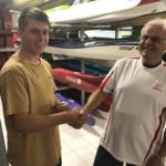 Tuesday 22nd January 2019 : Tonight's photo shows club member Les Siemens presenting Tom Green with hard cash in preference to a movie voucher.