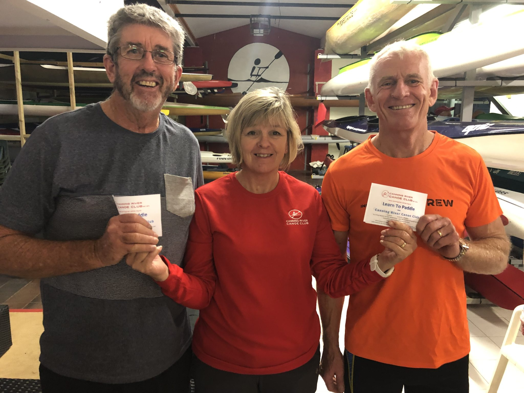 Tuesday 29th January 2019 : Tonight's photo shows club Secretary Judith Thompson presenting David Griffiths and Ken Ringrose with the winners movie vouchers.