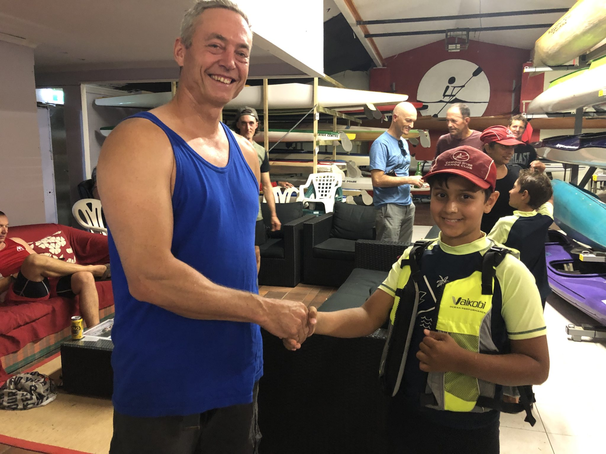 Tuesday 5th February 2019 : Tonight's photo shows club member Connor Jacob presenting Luc Jacob with the winners movie voucher.