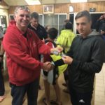 Tuesday 30th April 2019 : Tonight's photo shows club member David Brown presenting Noah Boldy with the winners cash.