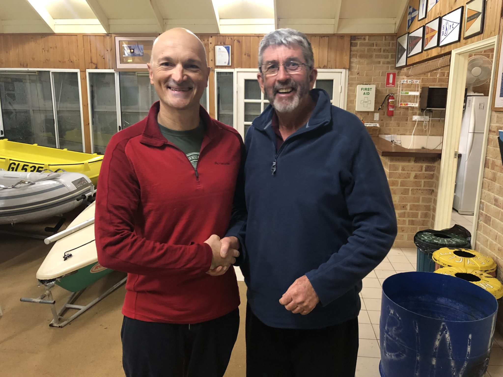 Tuesday 11th June 2019 : Tonight's photo shows club member David Griffiths presenting Carlo Cottino with the winners movie voucher.