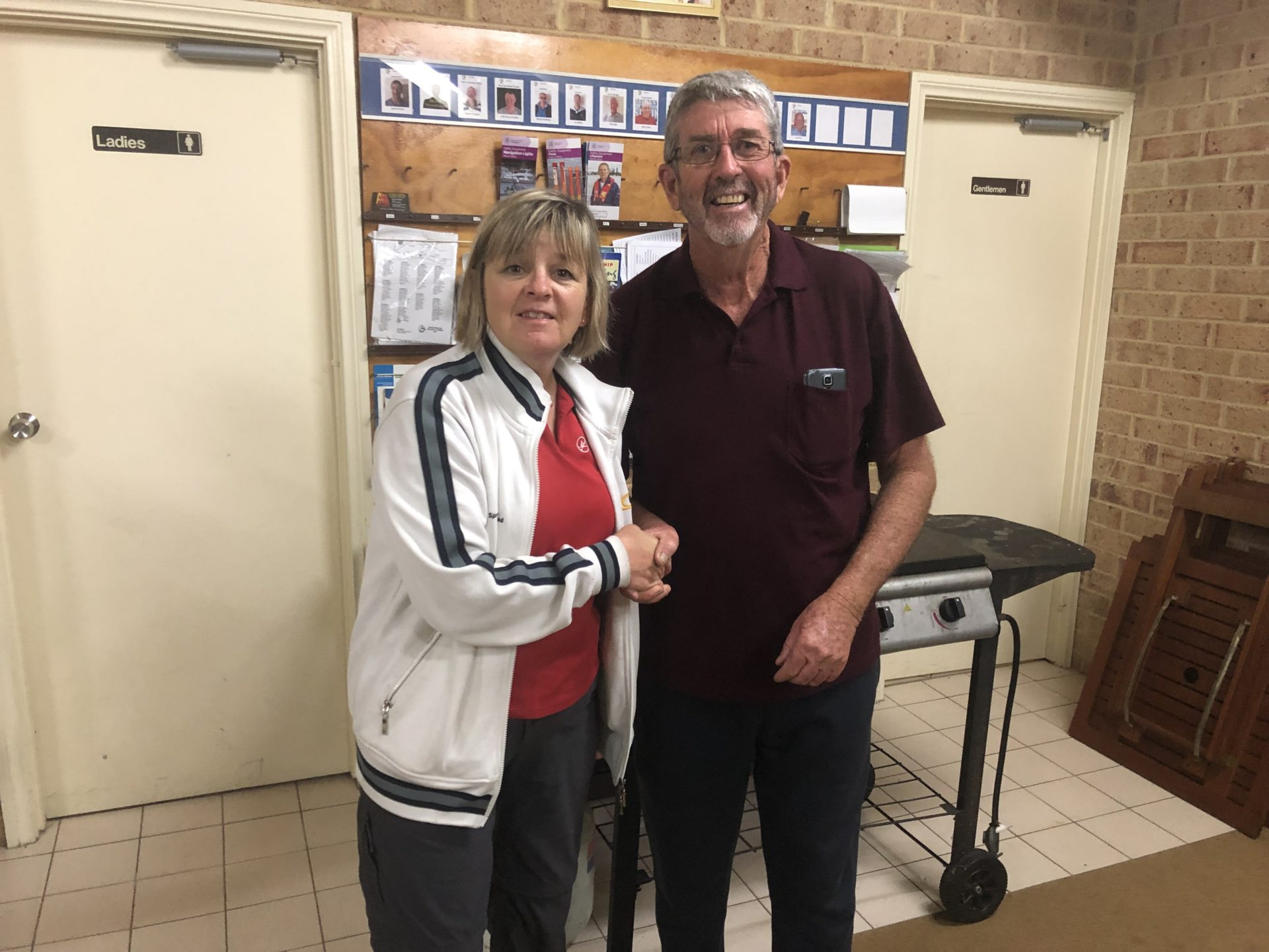 Tuesday 10th September 2019 : Tonight's photo shows club secretary Judith Thompson presenting tonight's winner David Griffiths with a movie voucher.