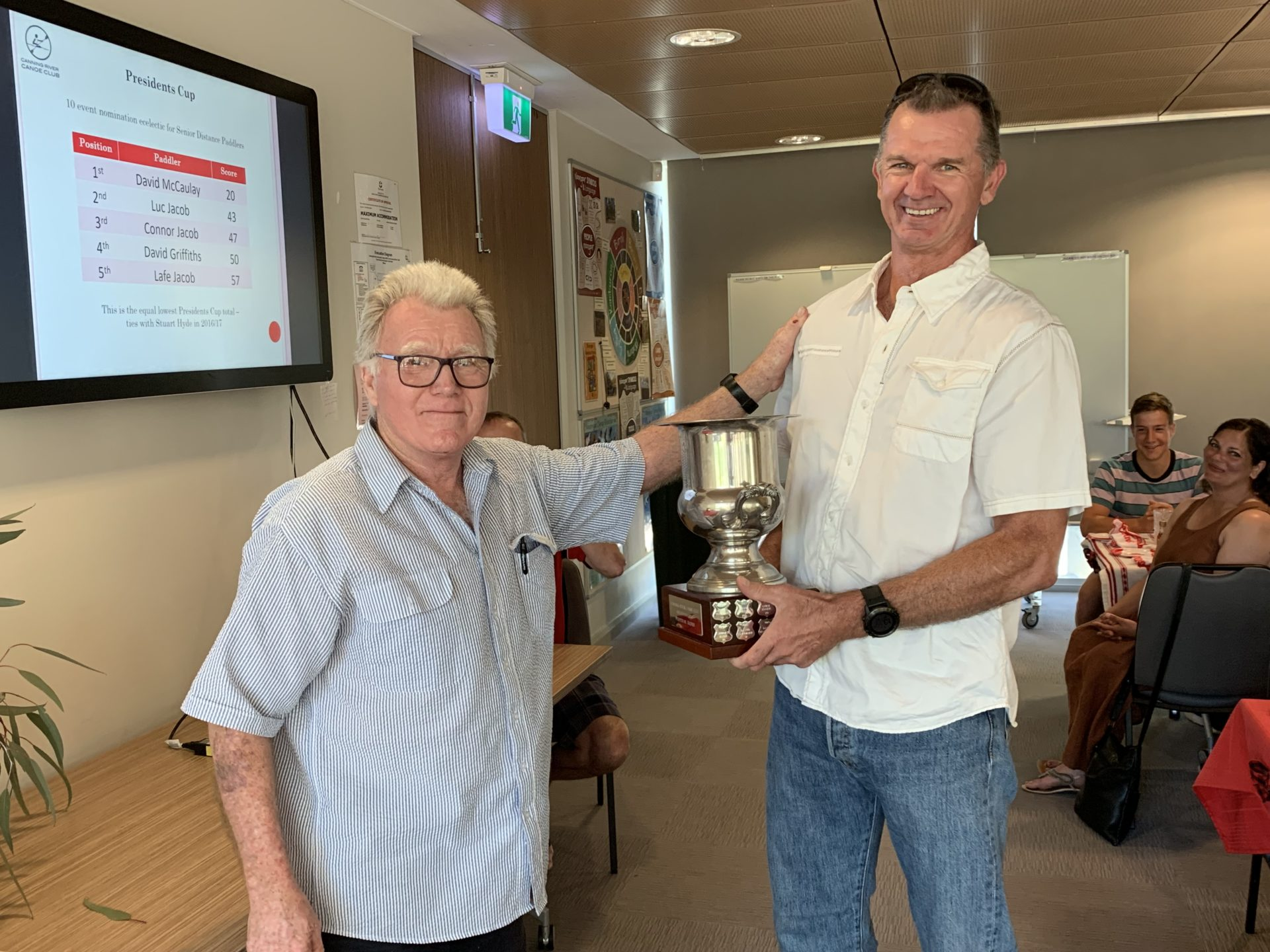 2018/19 Presidents Cup winner Dave MCCauleyDave MACauley