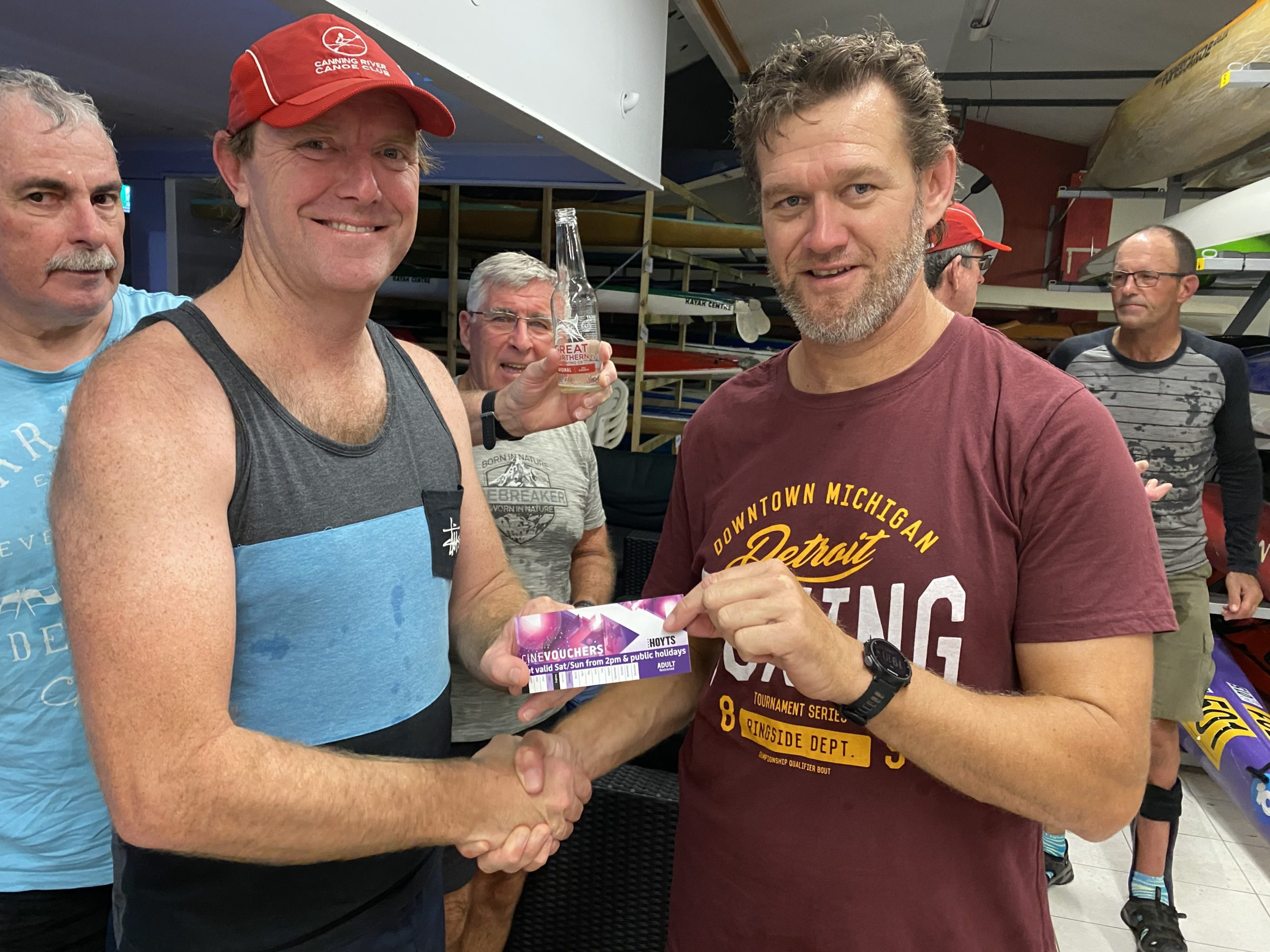 Tuesday 4th February 2020 : Tonight's photo shows member Simon O'Sullivan presenting Kristian Maliphant with the winners movie voucher.