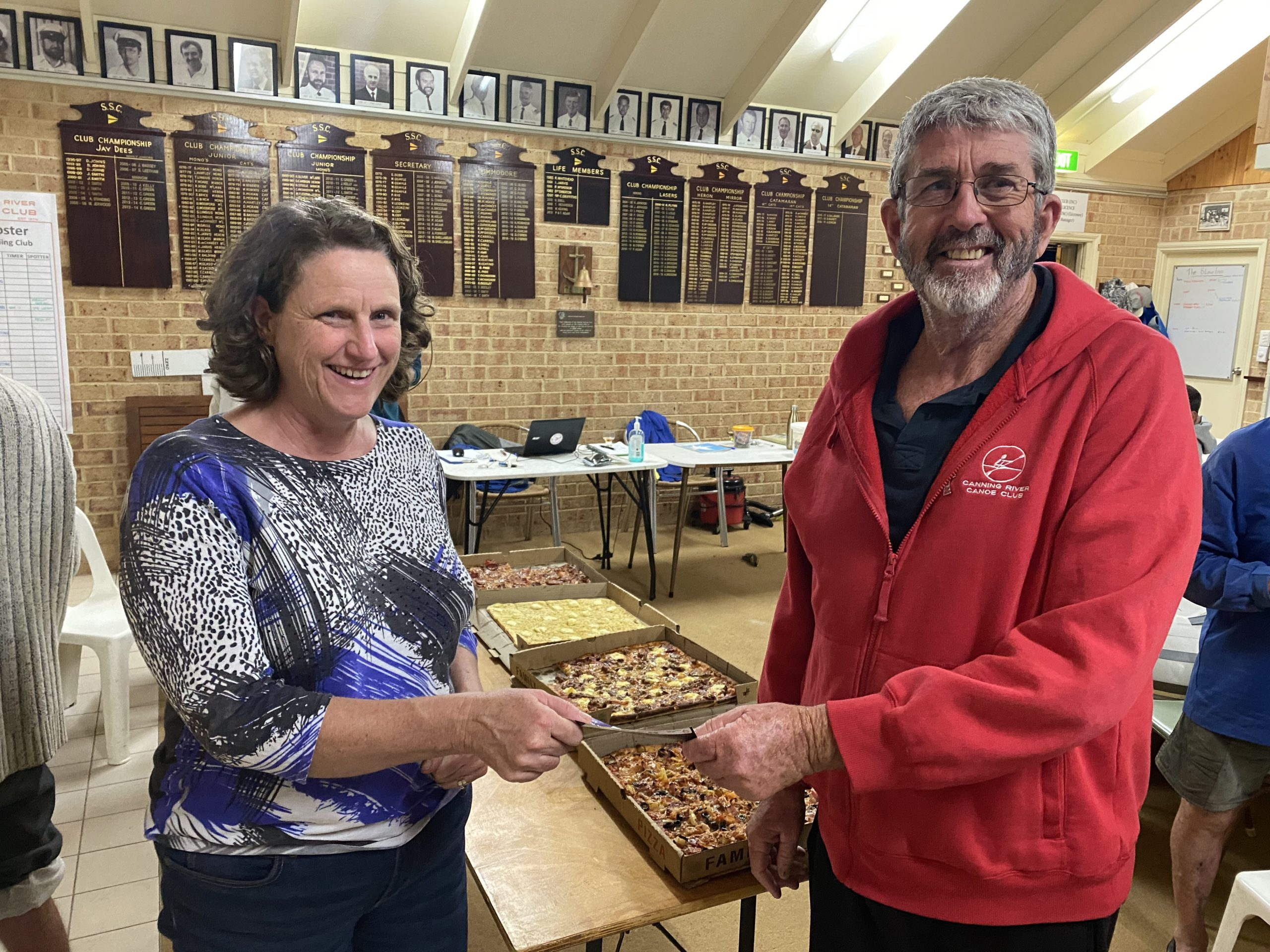 Tuesday 2nd June 2020 : Tonight's photo shows club member Cindy Coward presenting David Griffiths with a movie voucher.