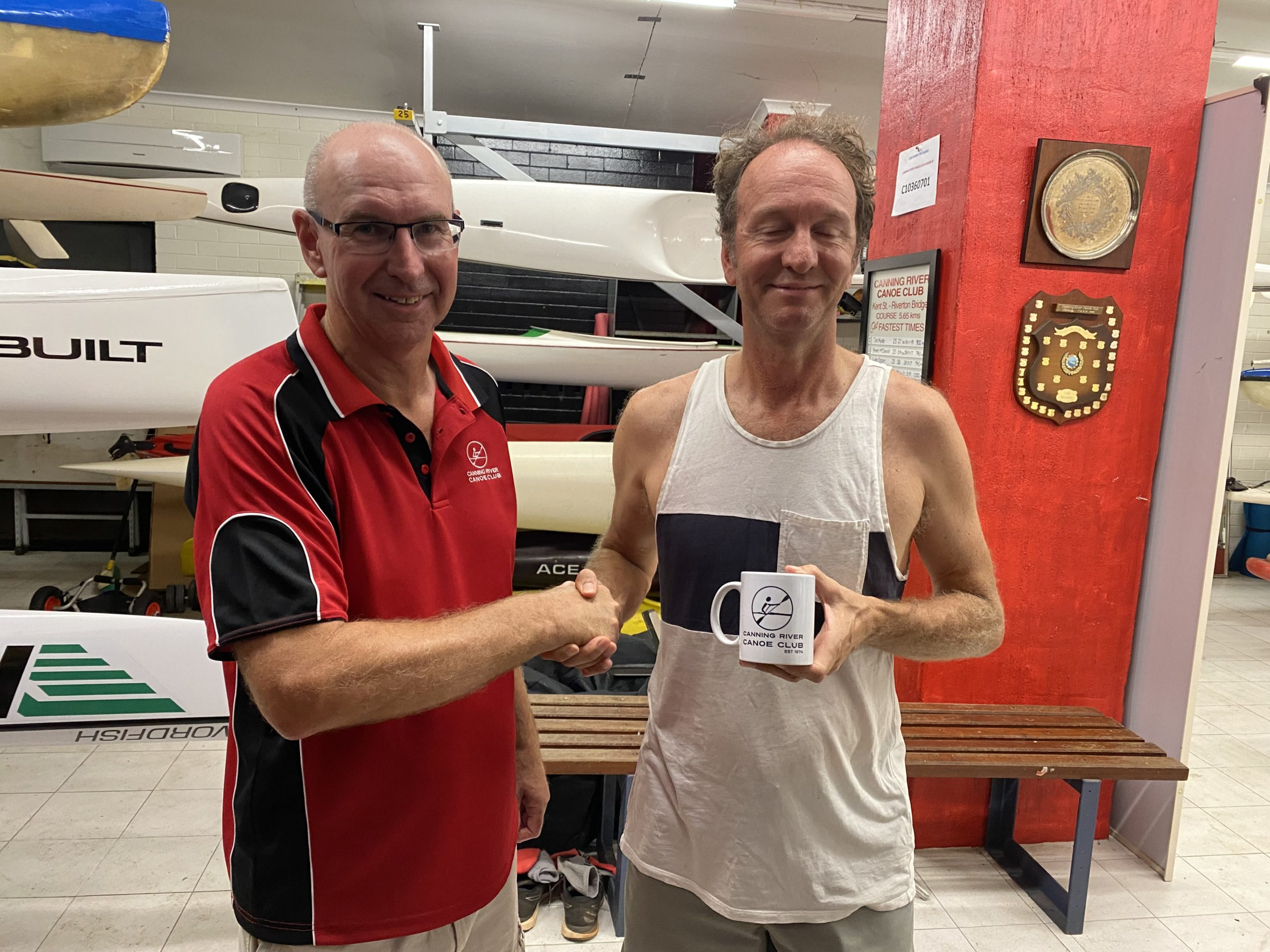 Tuesday 9th March 2021 : Tonight's photo shows club treasurer David Urquhart presenting tonight's winner Chris Graham with a movie voucher.